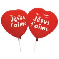 Ballons à gonfler forme coeur (paquet de 10)