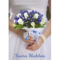 CARTE VB : Mariée et son bouquet (SF)