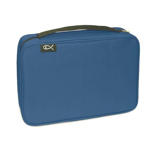 Pochette Bible compacte bleue 18.75x12.5x5cm