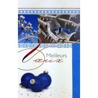 MIGNONETTE MV : Oiseau et boules bleues