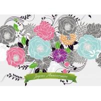 CARTE FLASH : Fleurs dessinées (JA)