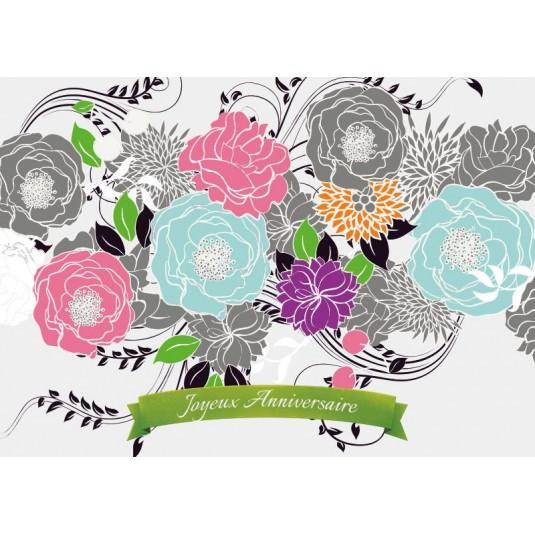 Carte avec message fleurs dessin es ja for Livraison fleurs avec message