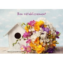 CARTE FLASH : Bouquet, nichoir (Bon rétablissement)