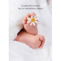 CARTE FLASH : Pieds de bébé