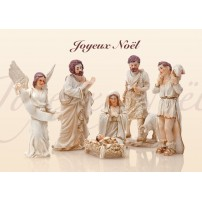 CARTE Flash FA  : Jésus, Marie, anges et bergers (JN)