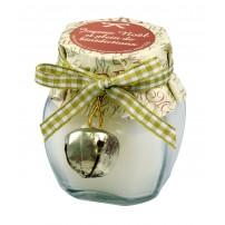 Bougie parfumée vanille avec grelot 6cm