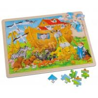 Puzzle bois sur l'Arche de Noé 96 pièces 40x30cm