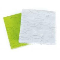 Serviettes papier verte motif Ichtus 33 x 33cm 20 par paquet