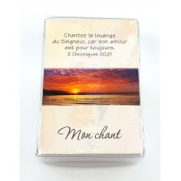 Lot 100 Mini-cartes VB : Dieu est avec moi