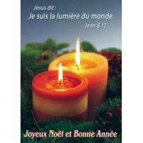 MINI-CARTE : 2 bougies sur branches de sapin