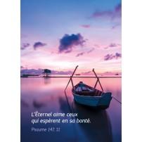 MINICARTE : Barque sur un lac au couchant