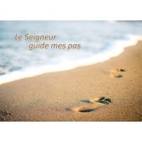 MINICARTE : Pas dans le sable sur la plage