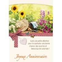 CARNET HA : Outils de jardinage et fleurs