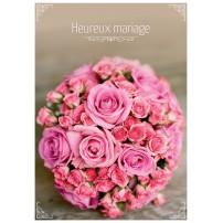 CARNET HM : Bouquet de roses roses