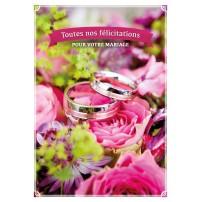CARNET HM : Alliances sur un bouquet de fleurs