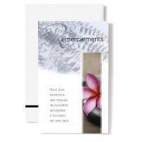 MIGNONNETTES RSC : Fleur rose sur galet noir (Remerciements)