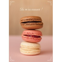 CARTE FLASH : Macarons empilés (Tu m'as exaucé)