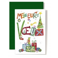 CARNET FA : MV Cadeaux, sapins, tons vert