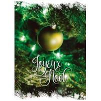 CARTE FLASH FA : Boule de Noël dans un sapin (JN)