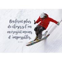CARTE PENSEE : Freerider en skis