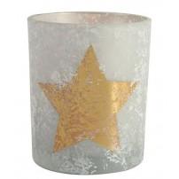 Bougeoir avec étoile dorée