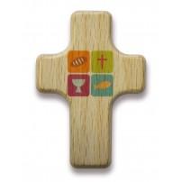 Mini-croix bois symboles