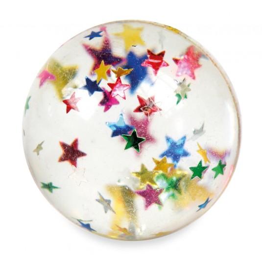Balle rebondissante avec étoiles multicolores