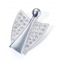 Pendentif ange argent et cristaux Zirkonium
