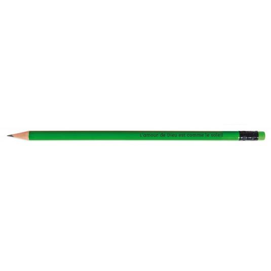 Crayon de papier vert fluo