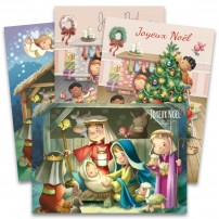 Lot de 8 cartes de Noël avec enveloppes