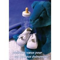 CARNET HE : Nounours, chaussons et biberon