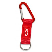 Porte-clés mousqueton rouge