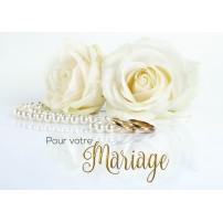 CARNET HM : Roses blanches et collier de perles