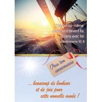 CARNET HA : Voilier navigant sur la mer