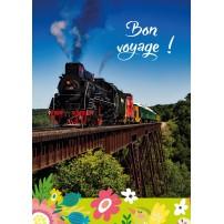 CARNET :Train à vapeur sur un pont