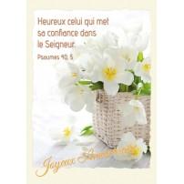 CARNET HA : Bouquet de fleurs blanches dans un panier