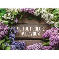 CARNET SC : Composition florale sur fond de bois