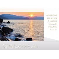 CARNET SC : Bord d'un lac au soleil couchant