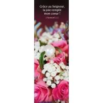 SIGNET : Composition florale rose et blanche