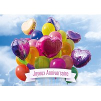 CARTE FLASH : Bouquet de ballons de baudruche (JA)