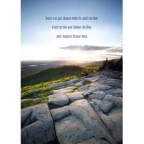 CARTE PENSEE : Paysage de montagne au lever du soleil