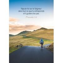 CARTE VB : Cycliste sur une route de montagne