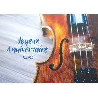 CARTE FLASH : Violon posé sur une table
