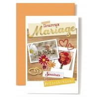 CARNET HM : Dés love,bouquet rouge et orange