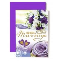 CARNET HM : Alliances,bouquet violet et blanc