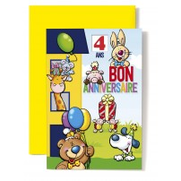 CARNET HA : Maison bleue et jaune,souris,girafe...