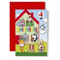 CARNET HA : Maison rouge et verte,chat,chien...
