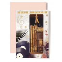 CARNET HA : Piano,disque,guitare et livre ancien