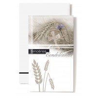 CARNET SC : Epis de blé,croix et oeillet