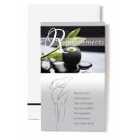 MIGNONNETTES RSC : Bougie,galets avec feuille verte(Remerciements)